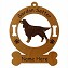 3275 Gordon Setter Standing  Ornament Personalized with Your Dog's Name